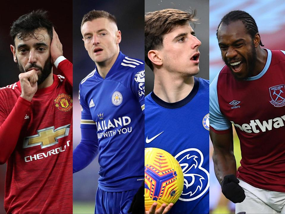 Who will finish in the top four? Manchester United, Leicester and Chelsea face challenge from West Ham and others (Getty Images)