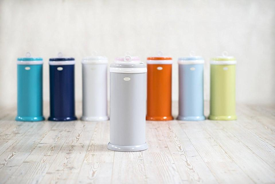 <p>The <span>Ubbi Diaper Pail</span> ($80) is the unsung hero of the nursery. The pail's steel body and tightly sealed lid keep the smell of dirty diapers at bay.</p>