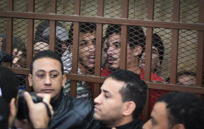 26 men accused of 'debauchery' are imprisoned in Cairo (AFP via Getty Images)