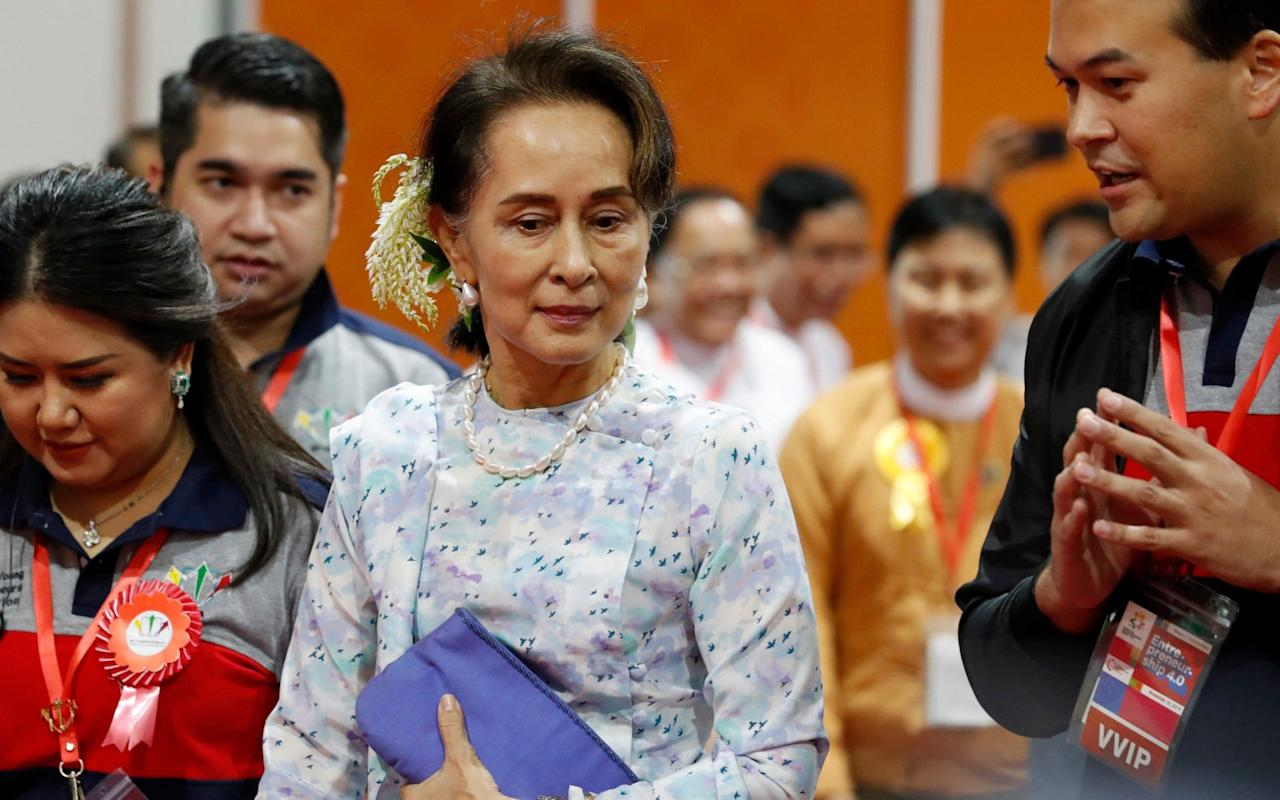Myanmar State Counselor Aung San Suu Kyi will defend her country over charges that it breached the 1948 UN Genocide Convention - REX
