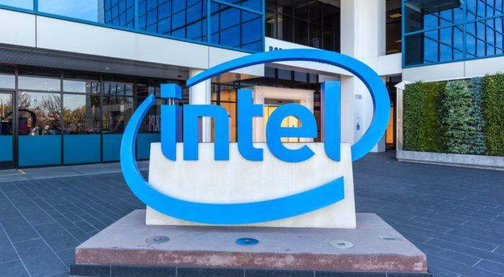 Sign of Intel at entrance of The Intel Museum in Silicon Valley