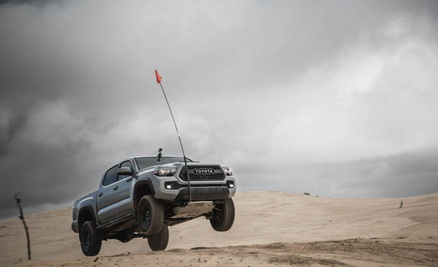 """<p>When life gives you an upgraded Toyota Tacoma that's ready for the off-road grind, you take it off-road. And then you jump it. How could our <a href=""""http://www.caranddriver.com/reviews/2017-toyota-tacoma-trd-pro-4x4-automatic-test-review"""" rel=""""nofollow noopener"""" target=""""_blank"""" data-ylk=""""slk:test of the '17 Tacoma TRD Pro"""" class=""""link rapid-noclick-resp"""">test of the '17 Tacoma TRD Pro</a> be complete without a few leaps?</p>"""