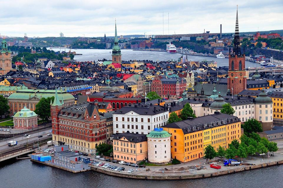 Aerial view of Gamla Stan, Stockholm.