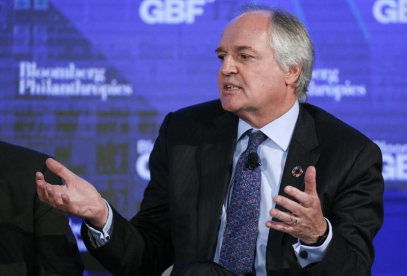 FILE PHOTO: Unilever CEO Polman speaks at the Bloomberg Global Business Forum in New York