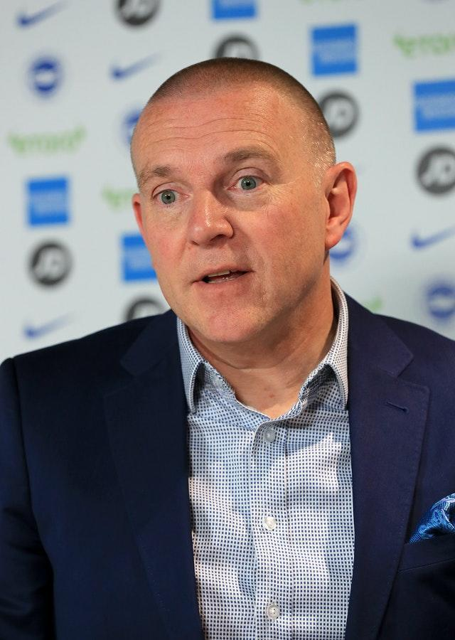 Brighton chief executive Paul Barber says fans returning to football grounds is 'welcome news'
