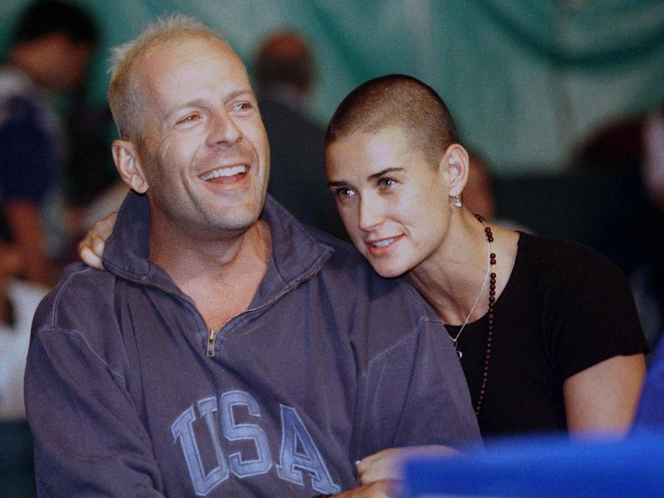Bruce Willis and Demi Moore (in 1996) share three daughters. (Photo: Reuters)