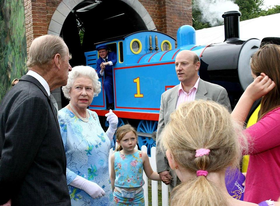 "<p>""I thought they were bringing Percy? Didn't you tell them Percy is my favorite tank engine?""</p>"