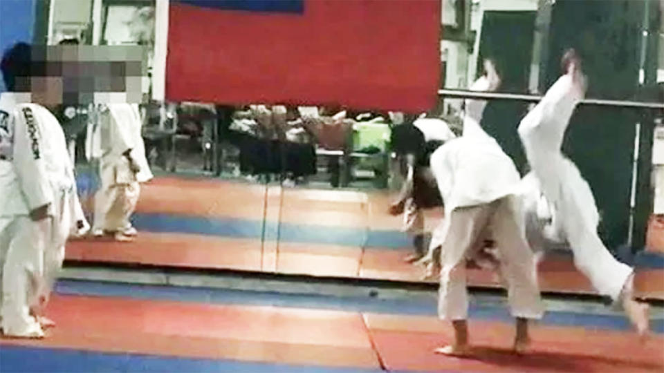 The seven-year-old boy, pictured here during the fateful judo class.
