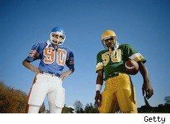 two college football players