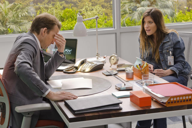 "Jennifer Carpenter as Debra Morgan and Sean Patrick Flanery as Jacob Elroy in the ""Dexter"" Season 8 episode, ""What's Eating Dexter Morgan?"""