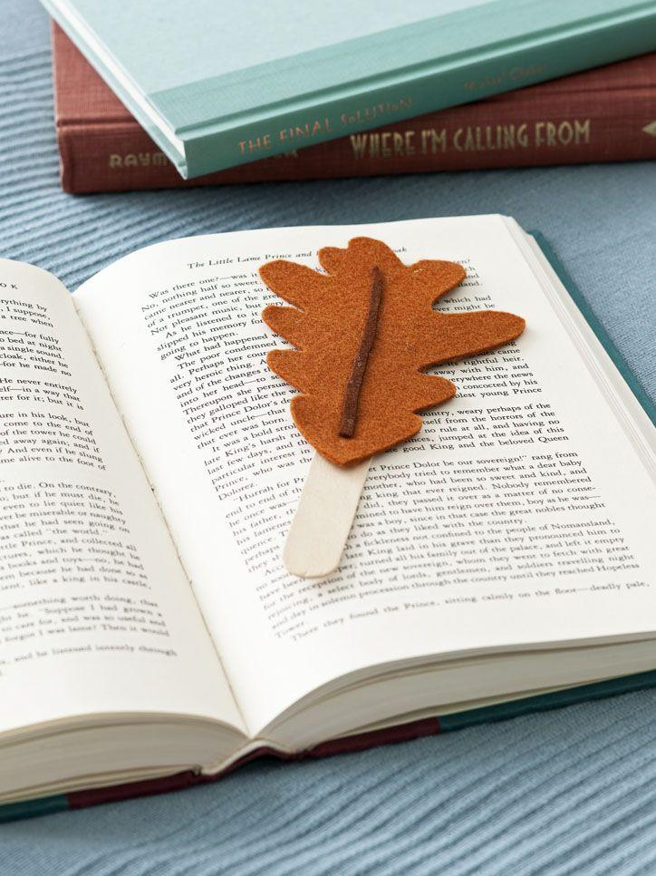 <p>One way to encourage kids to get ahead on their book report for school? Make these cute bookmarks out of felt and popsicle sticks. </p>