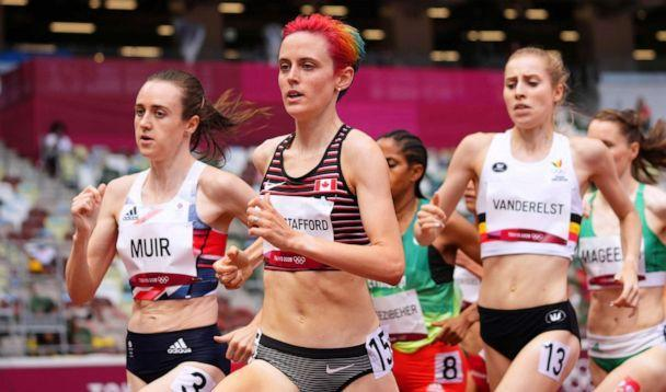 PHOTO: Gabriela Debues-Stafford of Canada competes in the women's 1500m on Aug. 2, 2021, in Tokyo, Japan. (Aleksandra Szmigiel/Reuters)