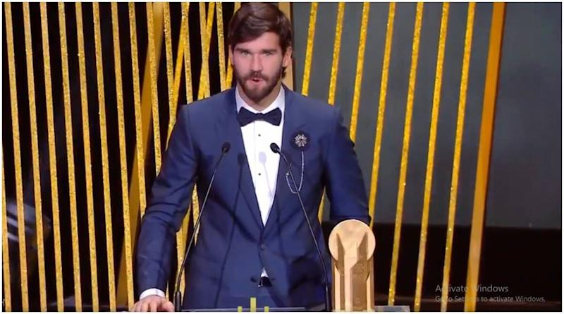 Alisson Becker Wins Yashin Trophy at Ballon d'Or 2019 Awards Ceremony, Liverpool Player Becomes First-Ever to Clinch Lev Yashin Goalkeeping Award