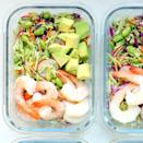 <p>The quick 10-minute Spicy Cabbage Slaw serves as the low-carb base in this veggie-packed lunch recipe. Topped with high-protein edamame and shrimp, this satisfying lunch will help you power through the afternoon.</p>