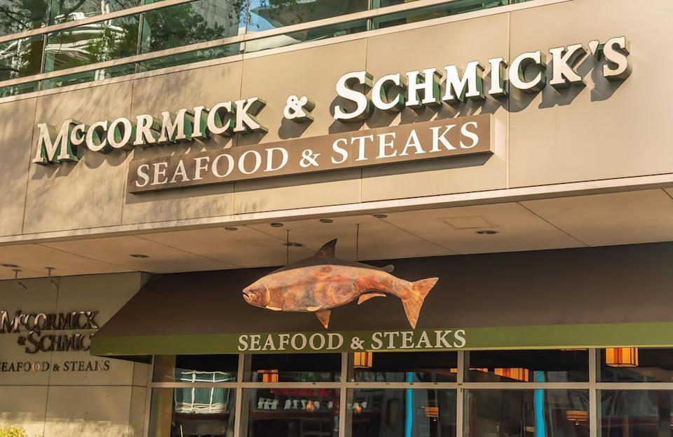 """<p>McCormick & Schmick's is offering its regular dinner menu <em>and </em>a traditional turkey dinner complete with all the classic staples for $29.50 for adults and $10 for children. You can also order a feast for takeout that feeds four to six people for $175. Offerings include roasted turkey, cornbread stuffing, mashed potatoes and gravy, seasonal vegetables, apple squash casserole, cranberry sauce, butternut squash bisque and walnut mixed greens. Orders must be placed no later than Nov. 23 to be picked up Nov. 25 or Nov. 26. Plates, napkins and flatware are available upon request. If you want dessert, look no further than these <a href=""""https://www.thedailymeal.com/cook/8-fall-apple-recipes-slideshow?referrer=yahoo&category=beauty_food&include_utm=1&utm_medium=referral&utm_source=yahoo&utm_campaign=feed"""" rel=""""nofollow noopener"""" target=""""_blank"""" data-ylk=""""slk:festive recipes for apple cider doughnuts, apple crisp and more"""" class=""""link rapid-noclick-resp"""">festive recipes for apple cider doughnuts, apple crisp and more</a>.</p>"""