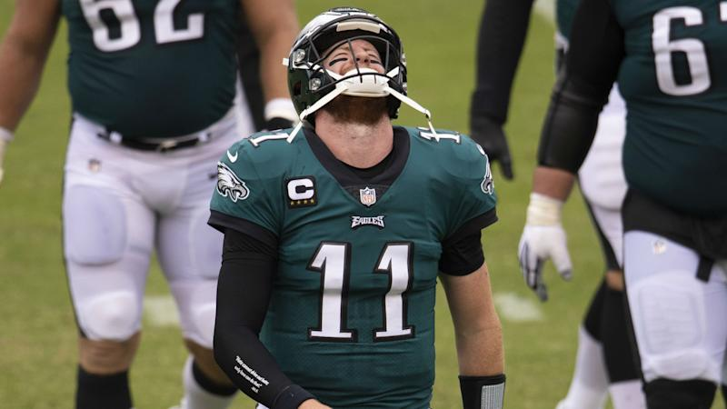 Eagles coach Pederson won't bench Wentz: 'That's a knee-jerk reaction'