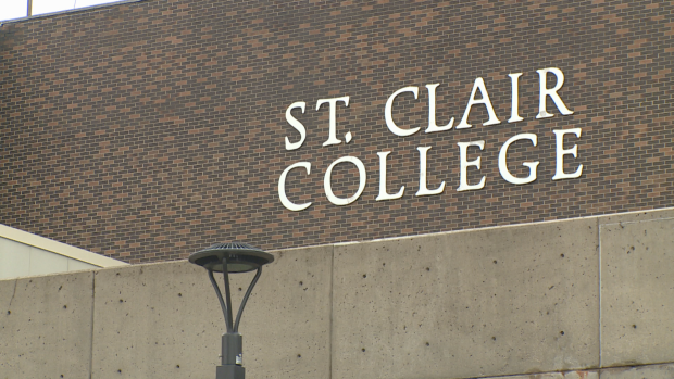 St. Clair College said the risk is considered low, but all students living in the residence have been asked to self-monitor for symptoms.  (Sanjay Maru/CBC - image credit)