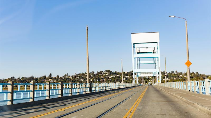 One of the bridges that cross the Napa River, connecting the Mare Island peninsula to the rest of Vallejo.