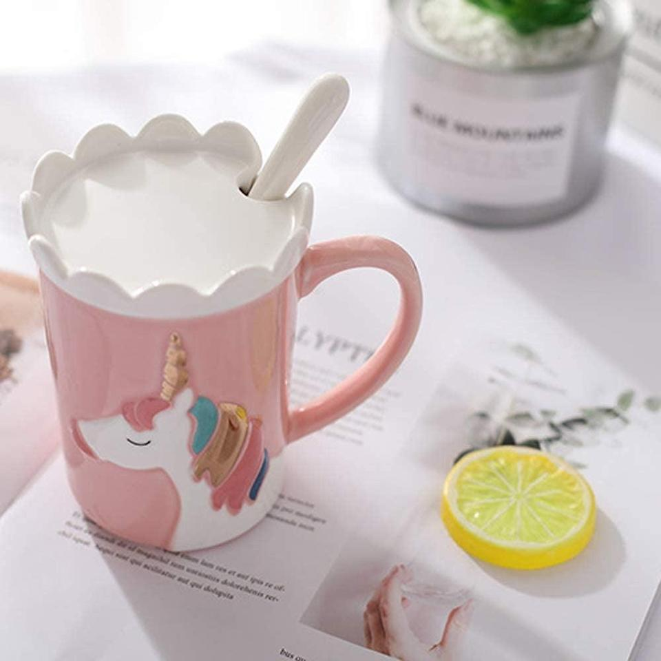 <p>This <span>Ceramic Unicorn Mug </span>($13) will put a smile on anyone's face. </p>