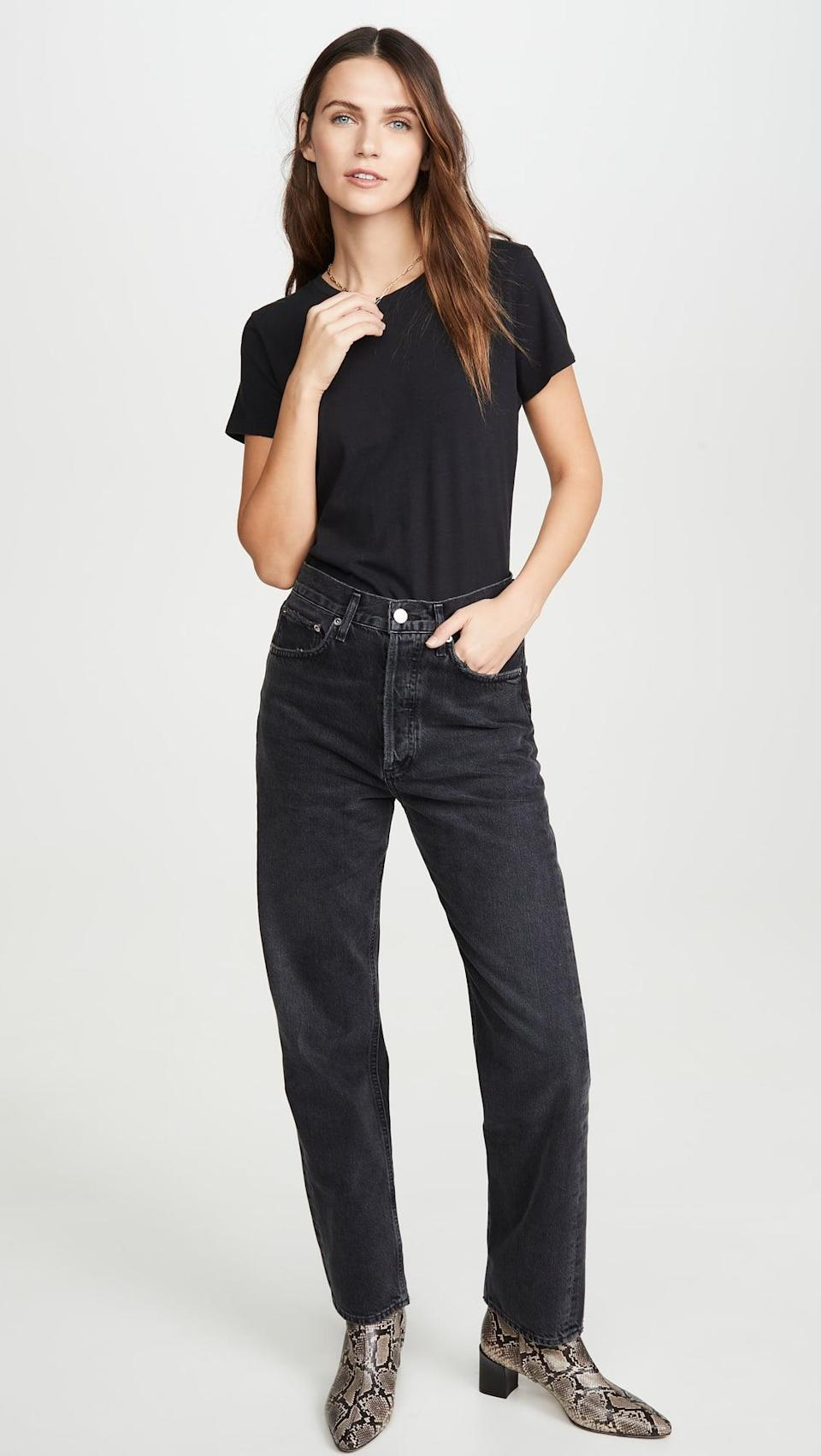 <p><span>Agolde 90's Mid Rise Loose Fit Jeans</span> ($178)</p>