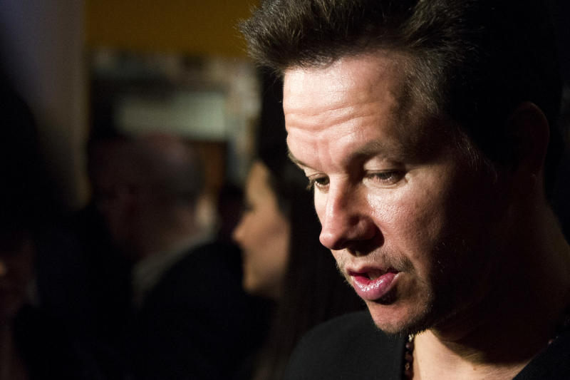 "Mark Wahlberg attends a screening of ""Pain & Gain"" hosted by the Cinema Society and Men's Fitness on Monday, April 15, 2013 in New York. (Photo by Charles Sykes/Invision/AP)"
