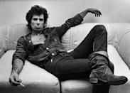 <p>Keith Richards exudes the cool guy factor as he lounges backstage with an almost completely open shirt in 1980. Would expect anything less?</p>