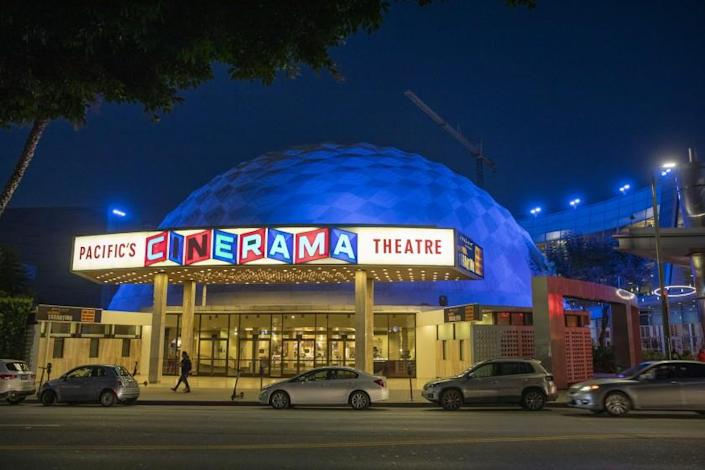 LOS ANGELES, CALIF. -- MONDAY, JULY 15, 2019: Exterior view of the Arclight Hollywood and Cinerama Dome at 6360 W Sunset Blvd, Los Angeles, July 15, 2019. (Allen J. Schaben / Los Angeles Times)