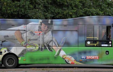 The Sky News logo is seen on an advertising wrap on a bus in west London, Britain June 29, 2017. REUTERS/Toby Melville