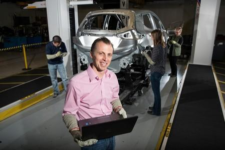 Chevrolet Bolt EV Chief Engineer Josh Tavel poses at the General Motors Orion Assembly in Orion Township
