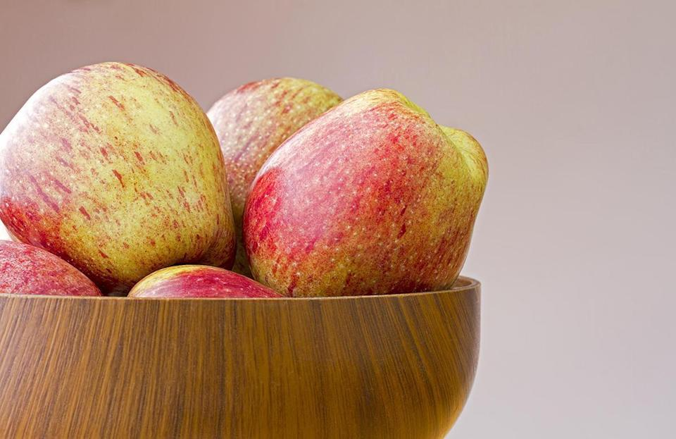 <p>Cameo apples, which were discovered in Washington state in the 1980s, are crisp and juicy with a bright, citrusy flavor with notes of honey.</p>