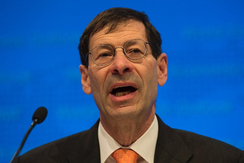 Maurice Obstfeld, Economic Counsellor and Director of Research Department, IMF, speaks during the World Economic Outlook media briefing during the IMF and World Bank Group 2016 Spring Meetings on April 12, 2016 in Washington, DC