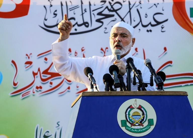 "The leader of Gaza's ruling Hamas movement, Ismail Haniya, tells thouands of Muslim worshippers an end to Israel's more than decade-long blockade is ""around the corner"", as talk of a possible truce deal intensifes"