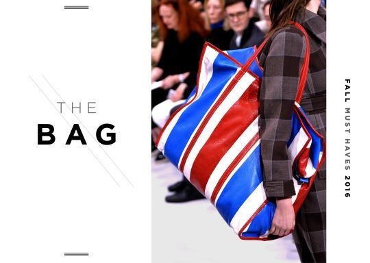 <p>Already on the arms of certain editors, this shopping bag is a stand out this fall.</p>