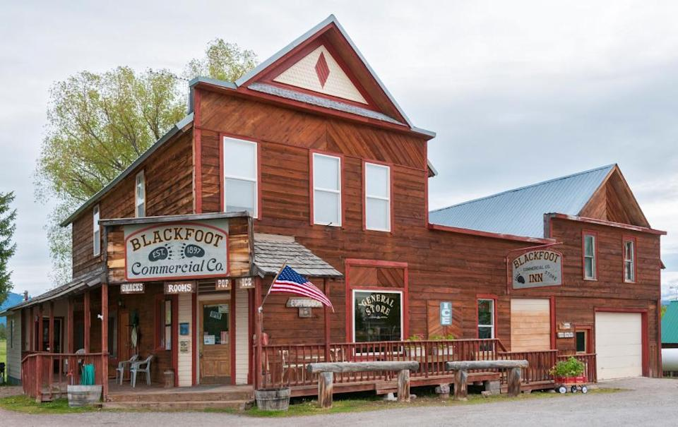 The general store and town center of Ovando.