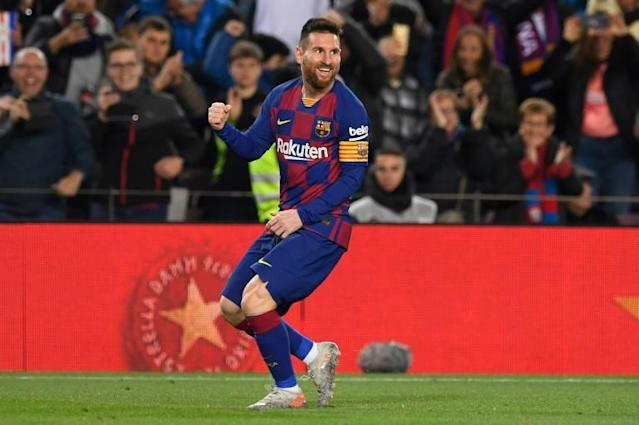 Lionel Messi's Barcelona are one of the teams that will take part in the Spanish Super Cup in Saudi Arabia in January (AFP Photo/Josep LAGO)