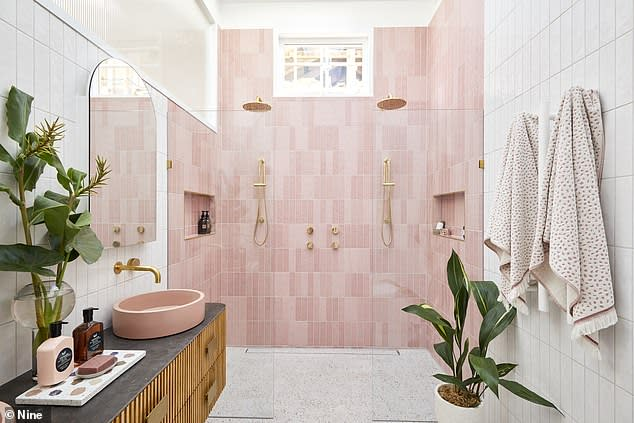 Jimmy and Tam's pink bathroom