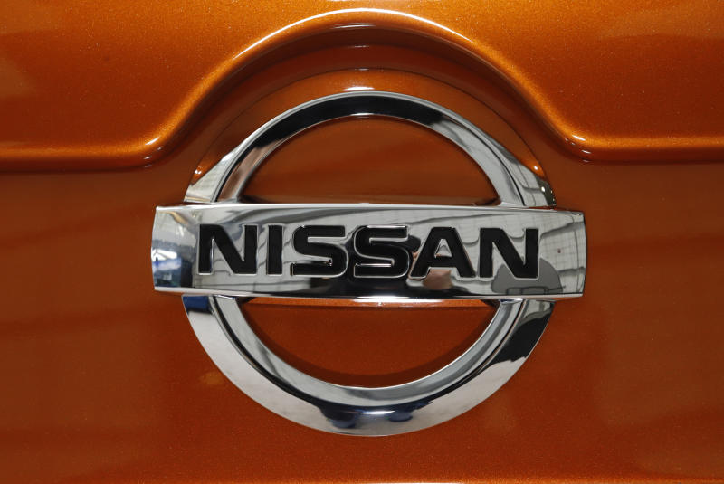 This is the rear of a 2020 Nissan Sentra on display at the 2020 Pittsburgh International Auto Show Thursday, Feb.13, 2020 in Pittsburgh. (AP Photo/Gene J. Puskar)