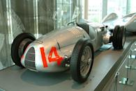 <p>This is one of history's most highly regarded race cars. The Type C had an enormous V-16 engine capable of propelling the slick vehicle up to 211 mph.</p>