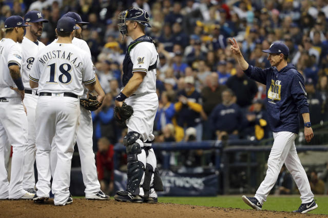 Milwaukee Brewers manager Craig Counsell took bullpenning to the next level during the postseason. (AP)