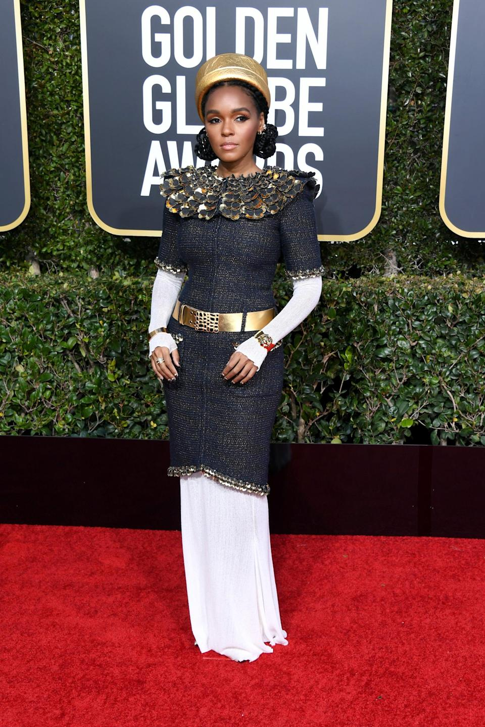 <p>Wearing a Chanel look with Le Silla shoes.</p>