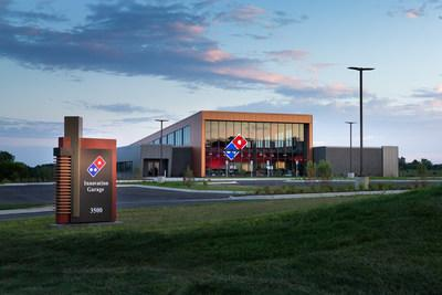 Domino's is excited to announce the grand opening of its Innovation Garage – a new space where team members will focus on collaborative innovation with cutting-edge technology. The new 33,000-square-foot, two-story building in Ann Arbor features an open-concept design space for 150 Domino's team members, as well as a fully-functioning pizza theater that project-based teams can use to develop and test new technology in a store setting.