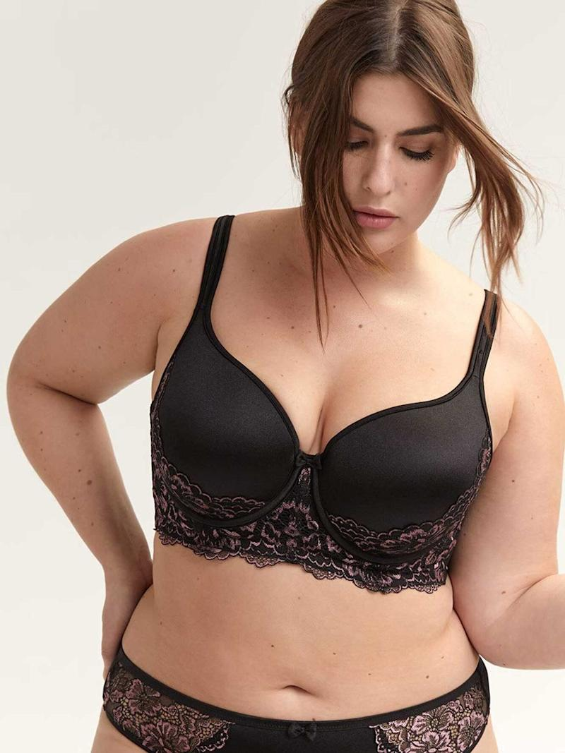 Addition Elle Deesse Collection Long Line Bra With Lace