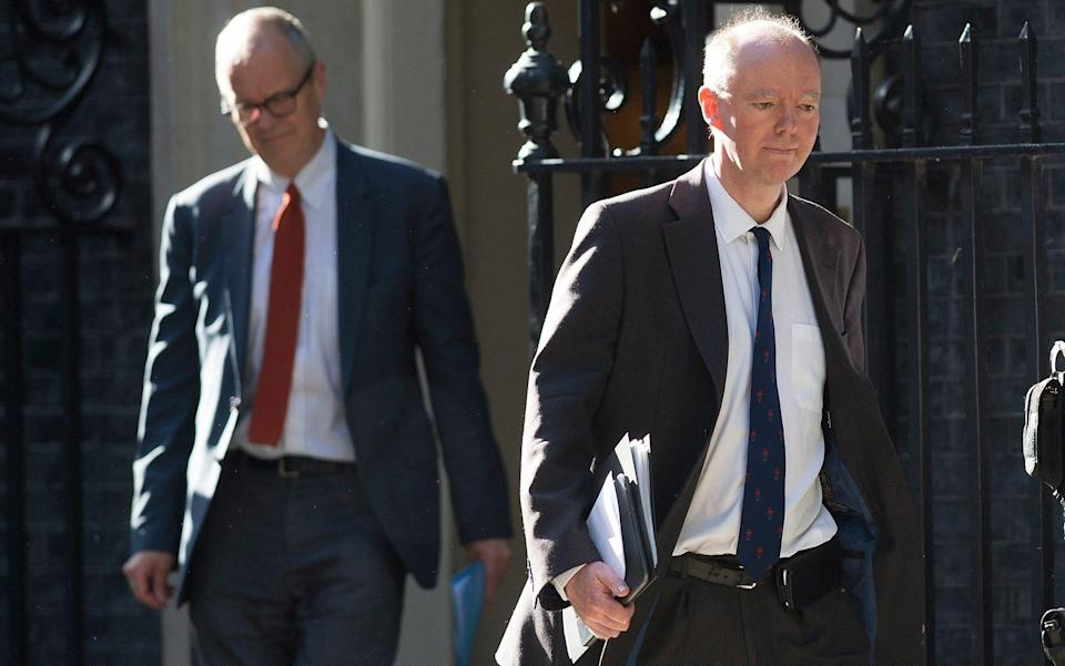 Sage is led by led by the chief scientific adviser, Sir Patrick Vallance (left), and the chief medical officer, Professor Chris Whitty, pictured here in Downing Street - Eddie Mulholland