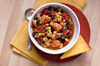 """<p>Frequent collaborators black beans and corn partner up with another sort of bean for this <a href=""""https://www.thedailymeal.com/cook/35-chicken-recipes-busy-weeknights-0?referrer=yahoo&category=beauty_food&include_utm=1&utm_medium=referral&utm_source=yahoo&utm_campaign=feed"""" rel=""""nofollow noopener"""" target=""""_blank"""" data-ylk=""""slk:easy chicken recipe"""" class=""""link rapid-noclick-resp"""">easy chicken recipe</a>: the Great Northern bean. Medium-sized, oval and with a thin white skin, Great Northern beans provide a delicate flavor and are commonly used in French and Mediterranean cooking. </p> <p><strong><a href=""""https://www.thedailymeal.com/recipes/chicken-chili-black-beans-and-corn-recipe?referrer=yahoo&category=beauty_food&include_utm=1&utm_medium=referral&utm_source=yahoo&utm_campaign=feed"""" rel=""""nofollow noopener"""" target=""""_blank"""" data-ylk=""""slk:For the Chicken Chili With Black Beans and Corn recipe, click here"""" class=""""link rapid-noclick-resp"""">For the Chicken Chili With Black Beans and Corn recipe, click here</a>.</strong></p>"""
