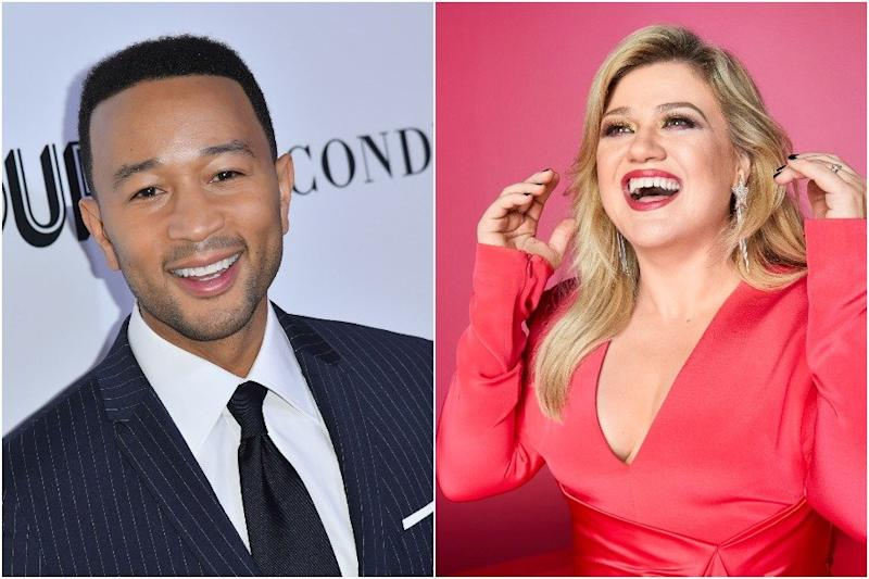 """You can now watch Kelly Clarkson and John Legend perform their new """"Baby, It's Cold Outside ..."""