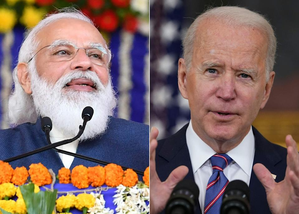 """<p>President Joe Biden has said he is sending """"whole series"""" of help to India, including machinery to build vaccines</p> (AFP via Getty Images)"""