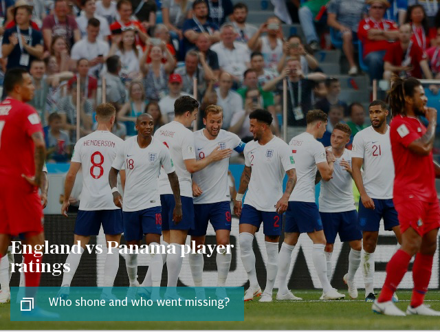 England vs Panama player ratings