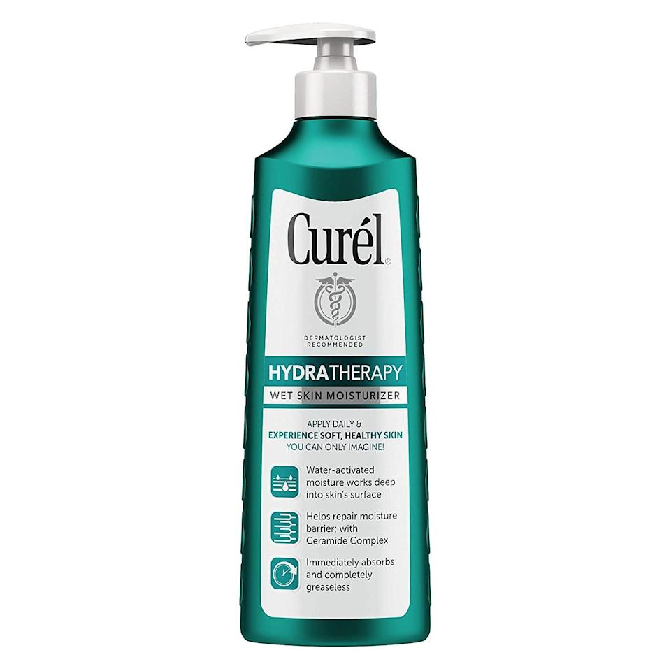 <p>This lightweight <span>Curél Hydra Therapy in-Shower Lotion</span> ($10) is activated by water, and sinks into wet skin to deeply hydrate and restore every inch of your body. With a non-irritating formula, this in-shower lotion is suitable for sensitive skin.</p>
