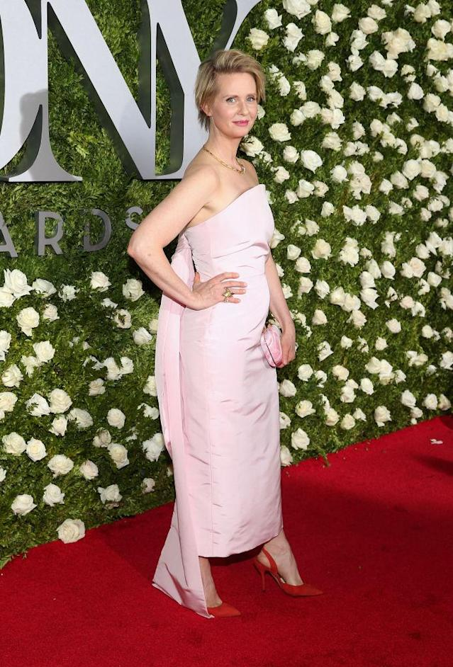 <p>What a fresh color, and one we rarely see the actress wearing. (Photo: Getty Images) </p>