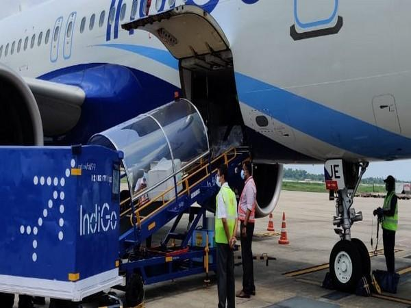 Batch of 3.5 lakh doses of Covishield vaccine arrived at Kochi airport from Pune on Monday. [Photo/ANI]